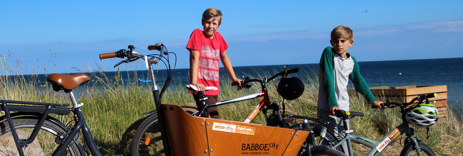 Fahrradpause am Strand